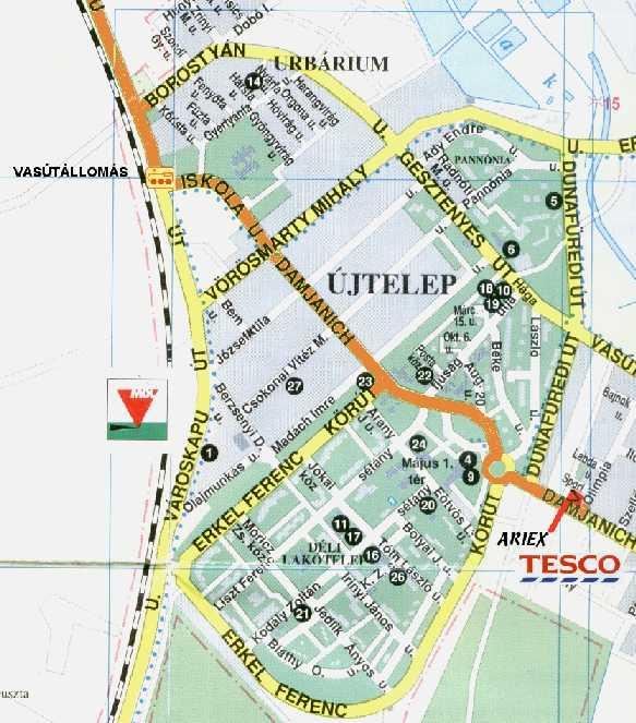 százhalombatta térkép SPALDING