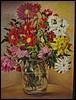 Virágok üvegvázában 40/30 cm