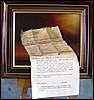 Levél a múltból - szürrealista kisérlet olajfestékkel és nyomtatóval - 30/40 cm